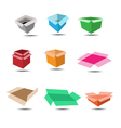 Colorful box and shadow vector image