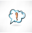 exclamation mark in the cloud vector image