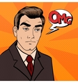 Exhausted Businessman Sad Man with Expression OMG vector image