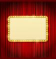 golden frame with light bulbs vector image