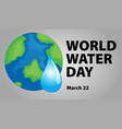 world water day poster design vector image