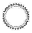 circle frame elegant isolated icon vector image