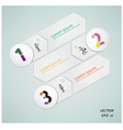 number options template vector image vector image