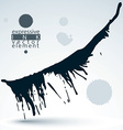 Artistic monochrome abstract dirty ink template vector image
