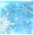 Beautiful blue winter background vector image