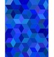 Blue color 3d cube mosaic background design vector image