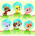 Cute farm animals vector image