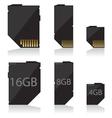Memory card black vector image