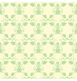 Neutral floral ornament cool green vector image