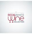 wine glass label design background vector image
