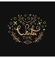Winter Golden Lettering Design Typographic vector image