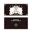 elegant horizontal envelope template for vip vector image vector image