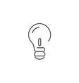 bulb thin5 vector image vector image
