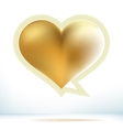 Valentines day gold speech bubble EPS8 vector image vector image