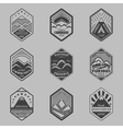 Mount badge set1 vector image
