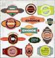 retro quality labels vector image