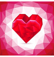 abstract three-dimensional red heart triangles vector image