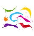 color splashes paint drops set realistic vector image
