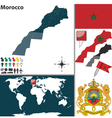 Morocco map world vector image