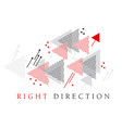 red arrow modern style geometry design element vector image