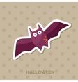 Bat icon Halloween sticker vector image