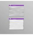 Purple Sealed Transparent Plastic Zipper Bags vector image