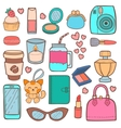 Cute hipster stickers patch vector image