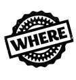 where rubber stamp vector image