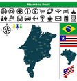 map of maranhao brazil vector image