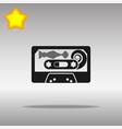 audio tape black icon button logo symbol vector image