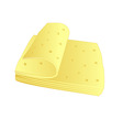 cheese slices vector image