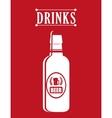 Drink design vector image