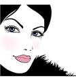 beautiful girl vector image