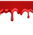 Blood on white vector image vector image