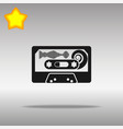 audio tape black icon button logo symbol vector image