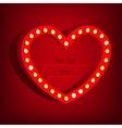 Lamp Heart Banner vector image