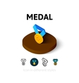 Medal icon in different style vector image