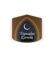 Ramadan Kareem religious Label with Ribbon vector image