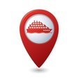 ship icon red map pointer2 vector image