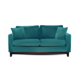 sofa isolated vector image