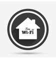 Home wifi sign Wifi symbol Wireless Network vector image