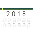 Swedish 2018 year calendar vector image