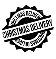Christmas Delivery rubber stamp vector image