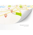 Navigation map vector image vector image