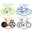Bicycle types set II vector image vector image