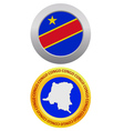 button as a symbol CONGO vector image