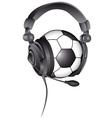 soccer ball headphones vector image