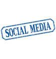 social media square blue grunge vintage isolated vector image