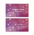 business card purple vector image