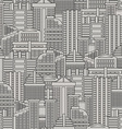 City seamless pattern background of buildings and vector image